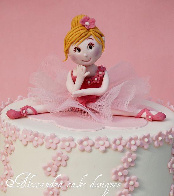 ballet cake -torta prima comunione- cake first communion by Alessandra Cake Designer, via Flickr