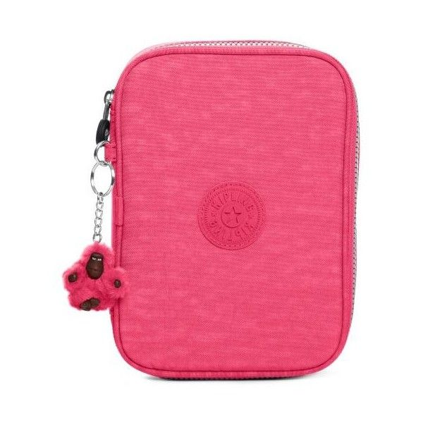 100 Pens Case Vibrant Pink (620 ARS) ❤ liked on Polyvore featuring home, home decor, office accessories, pink office accessories, colored highlighters, pink pencil case, colored pencil case and colored pens