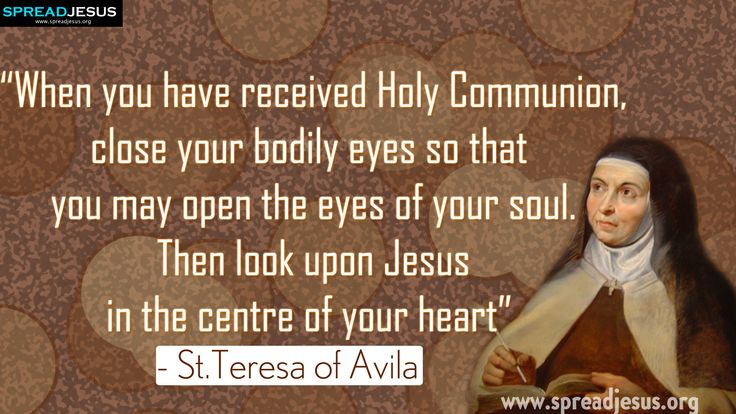 """St Teresa of Avila Quotes 