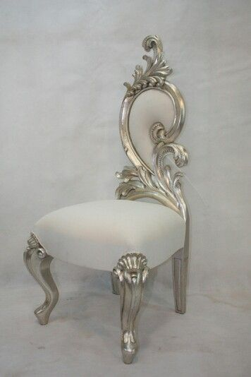 Dining chair silver leave