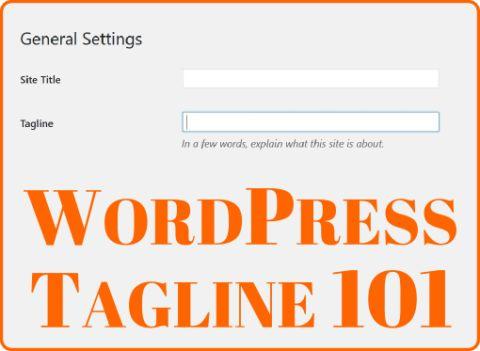 WordPress tagline