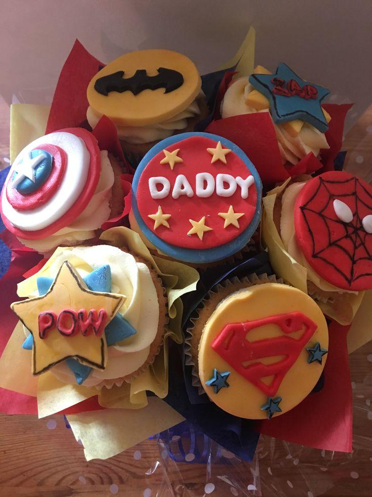 Superhero cupcake bouquet