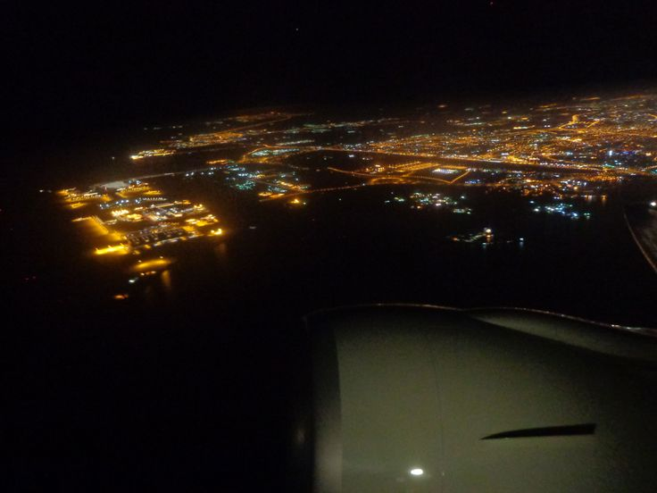 Leaving Qatar behind, flying to Thailand.