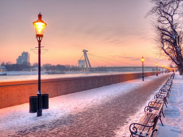 This one was taken on a wonderful, yet bitterly cold mid-December evening on the bank of Danube in Bratislava, Slovakia