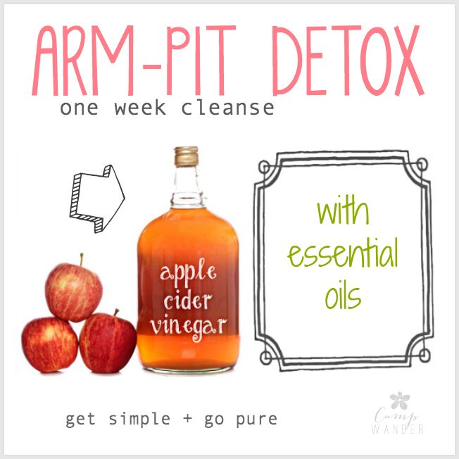 Arm-pit Detox - for Optimal DIY Deodorant Performance! 1 tablespoon organic apple cider vinegar Filtered water 4 drops Rosemary essential oil 4 drops Lavender essential oil 2 ounce spray bottle
