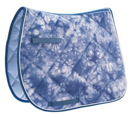 Lettia Navy Tye Dye All Purpose/Dressage Saddle Pad - Personalized/Monogrammed