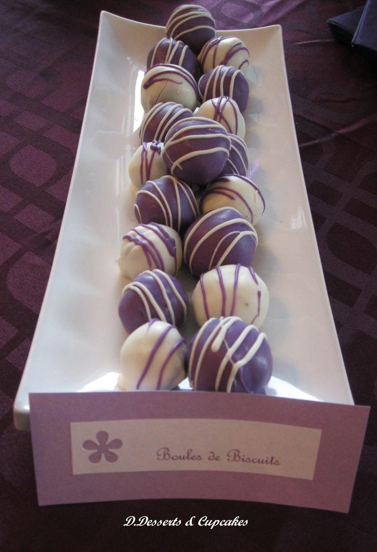 purple and white truffled cookies