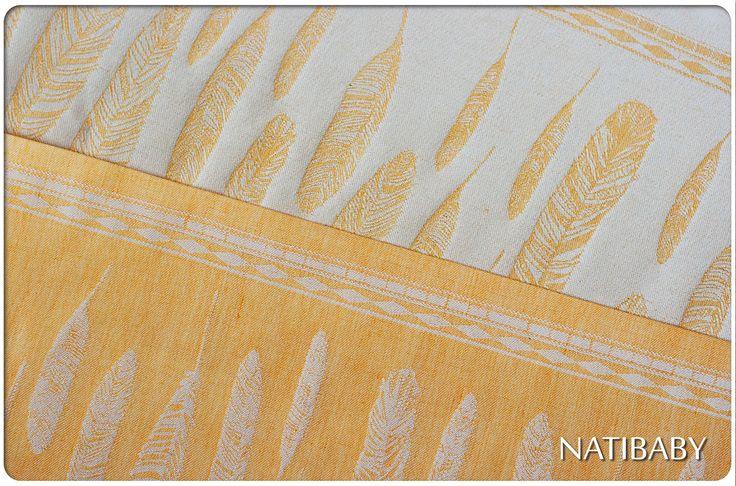 Exclusive Natibaby Golden Feathers Woven Wrap (Hemp)