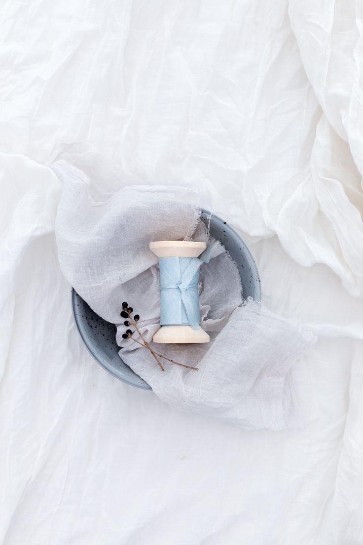 floretally blue silk ribbon