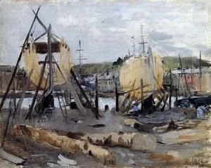 Boats Under Construction  Berthe Morisot