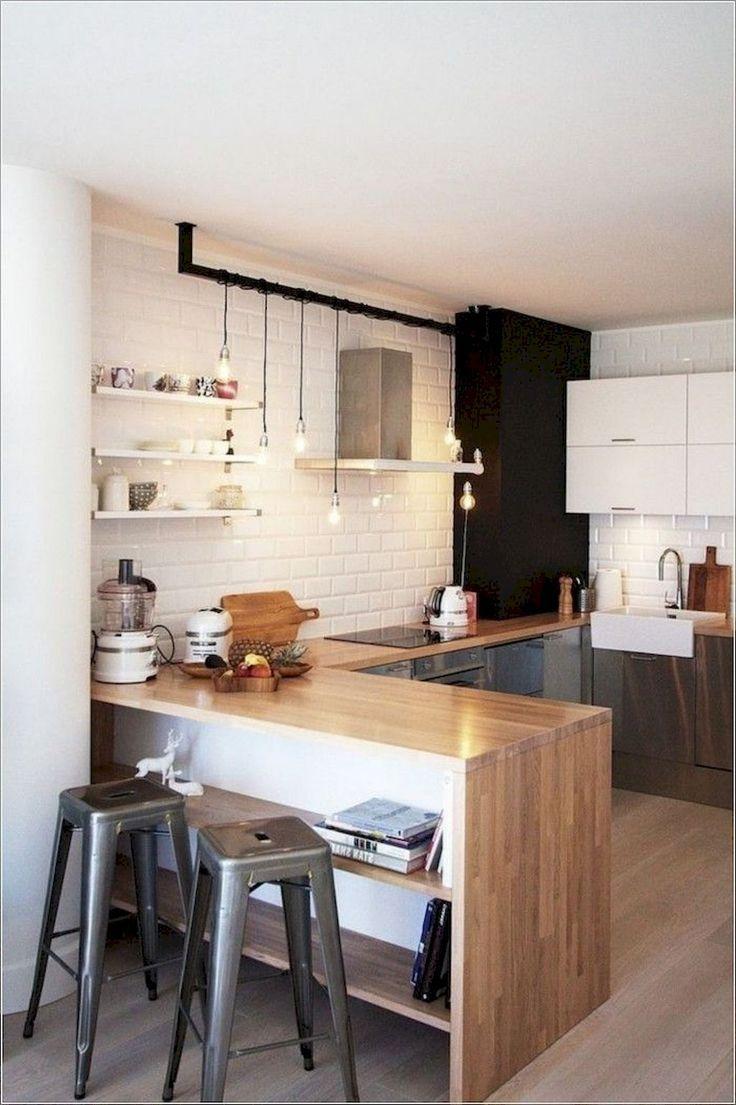 80+ Awesome Scandinavian Kitchen Remodel | Small modern ...
