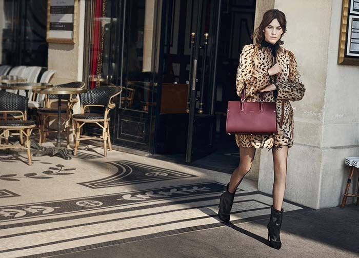 Alexa Chung for Longchamp Fall 2016 Campaign