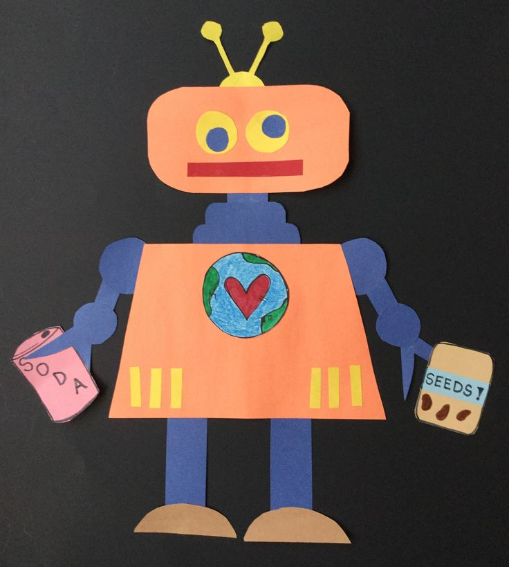 "Make this cute robot to go with the one-page booklet about recycling called ""If I Could Build a Robot""! Fun for K-2!"