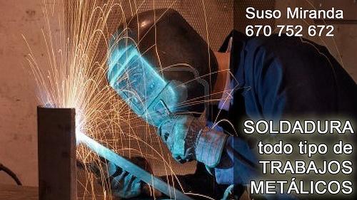 Soldadura Suso Miranda. Todo tipo de trabajos metálicos. 670 752 672