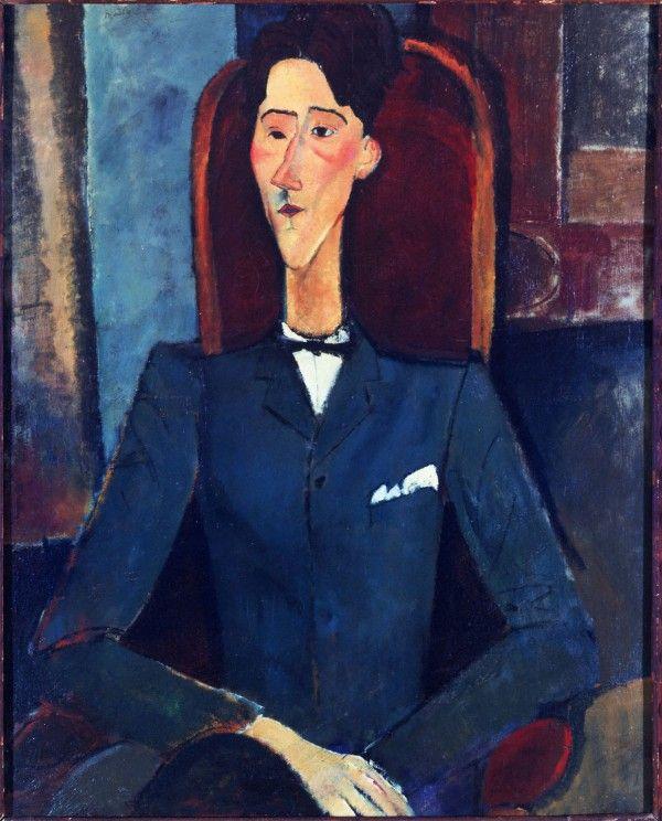 Amedeo Modigliani (Italian, 1884–1920) Jean Cocteau, 1916 Oil on canvas 100.4 x 81.3 cm. (39 1/2 x 32 in.) Signed upper left: Modigliani