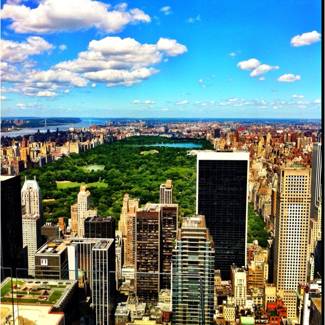 Top of the Roc.. NYC. Overlooking Central Park :) .. beautiful!