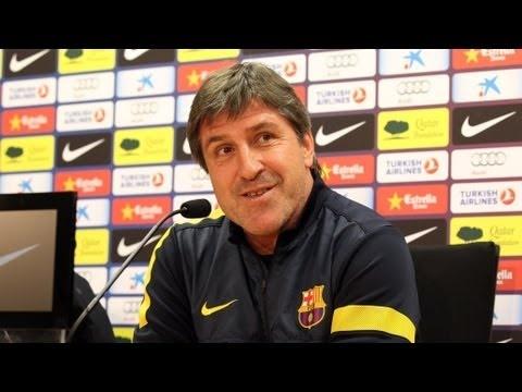 Rueda de prensa íntegra de Jordi Roura del 29 de enero de 2013, previa a la ida de la semifinal de la Copa del Rey contra el Madrid.