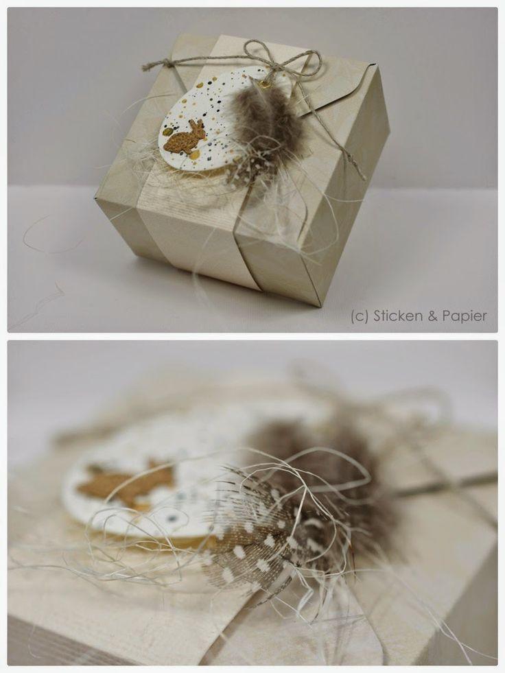 Vor einigen Tagen wunderhübsche Schachteln bei 'Blütenstempel' gesehen…