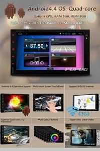 Eincar Quad Core 7 inch 2 DIN Universal Android 4.4 Car Stereo Radio HD 800*480 Muti-touch Screen GPS Navigation Without DVD Player Support…
