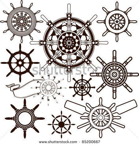 Ship wheel  Tattoos | Ship Wheel Collection by bigredlynx, via ShutterStock