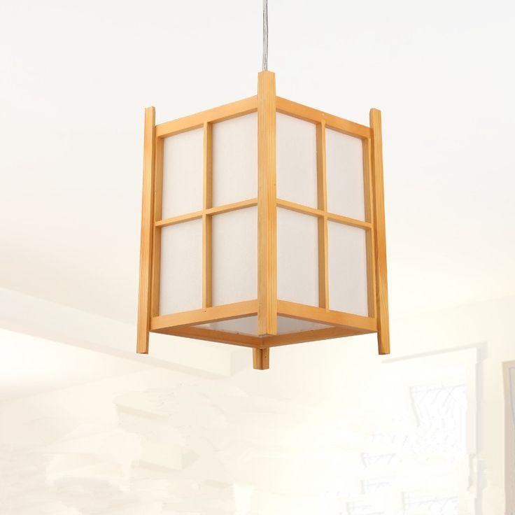 69.00$  Watch now  - Modern Japanese Pendant Lamp Washitsu Tatami Decor Wooden Lamp For Restaurant Living Room Hallway Japan Lighting and lantern