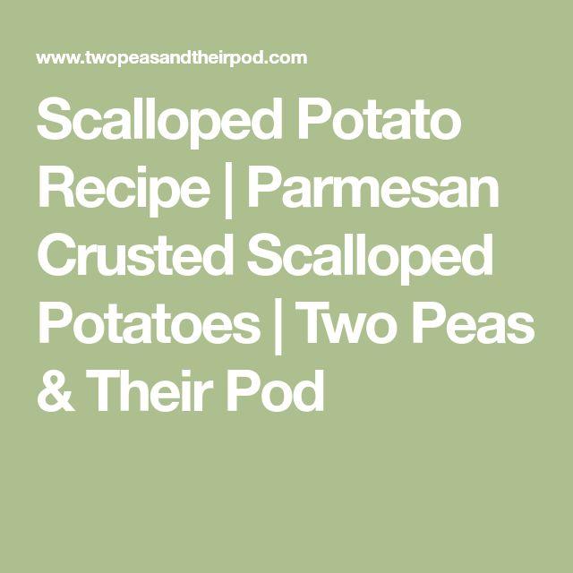 Scalloped Potato Recipe | Parmesan Crusted Scalloped Potatoes | Two Peas & Their Pod