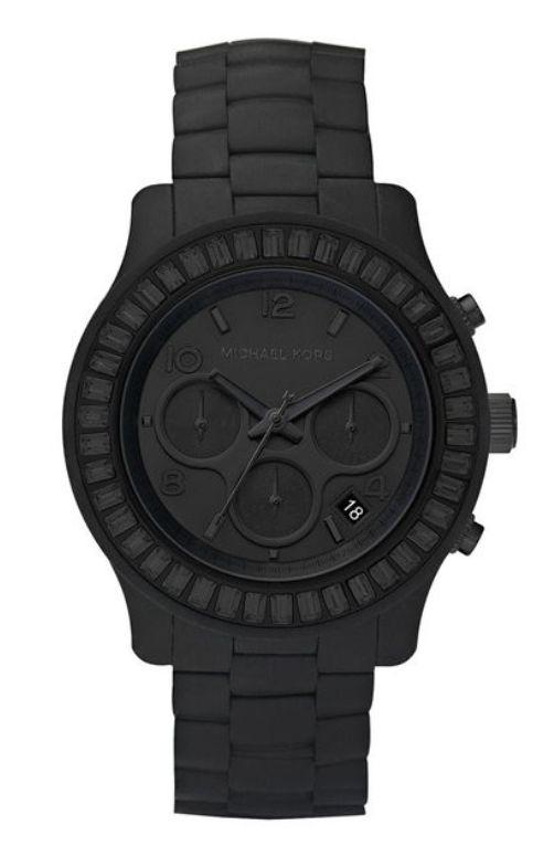 MK Matte Black Mens Watch!! Niiiiice!! He LOVES watches! =)  Johnston  http://johnstonmurphymensclothing.gr8.com  More Mens Fashion   Johnston & Murphy  http://johnstonmurphy.gr8.com