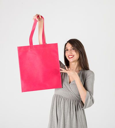 Bolsa de tela con ribete #bolsastela #tst #nonwoven #tejidosintejer