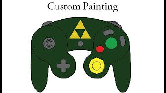 paint gamecube controller - YouTube