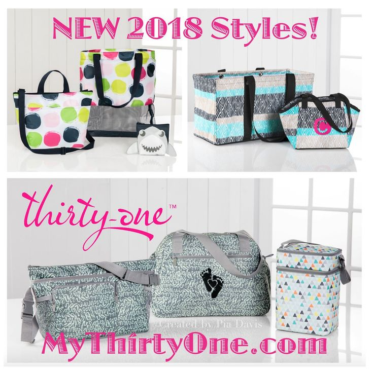 #31 2018 Thirty-One Spring & Summer Styles from the NEW Summer Essentials Guide, NEW Baby Collection and NEW Global Inspired Line of Prints can be found at MyThirtyOne.com/PiaDavis. Check out the Mesh Mix Cinch Bag, Crossbody Thermal Tote, Large Utility Tote, Lunch Break Thermal, Take the Day, City Park and Take Two Diaper Bags, Multi Bottle and Cargo Clip On Thermals, Pinch-Top Eye Glass Cases, In The Clear Tote, Game On Set, Cool Zip Snackers…