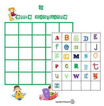 La lettre manquante, alphabet, lettres, Cp, Ce1, GS, lire, lecture