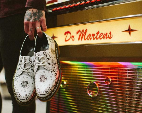 Jukebox baby. Our 1461 Bandana shoes are 'made in music' with a print inspired by the iconic neckerchief worn by so many artists. Photo by ched53.