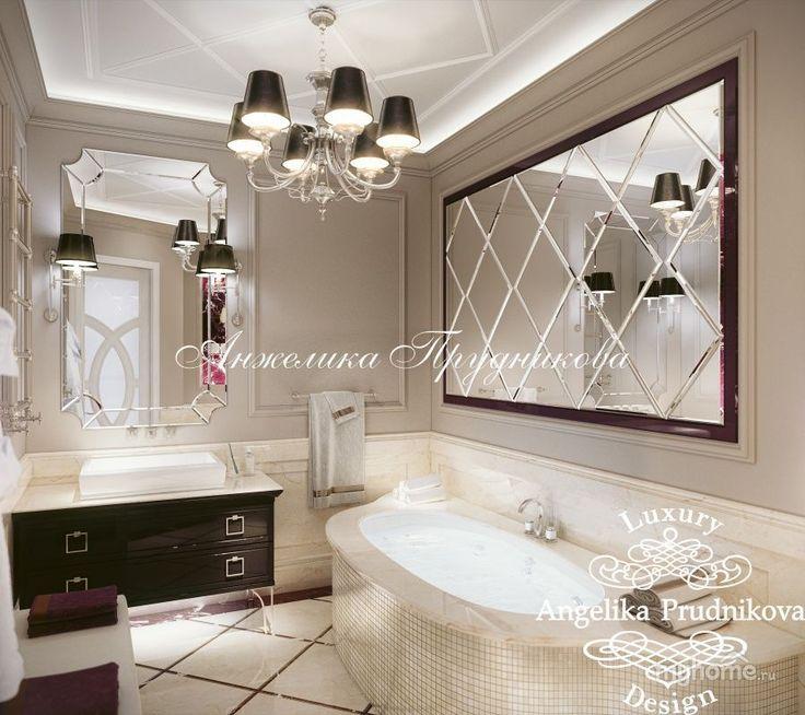 Дизайн интерьера квартиры в стиле Арт Деко в Звонарском переулке. Ванная