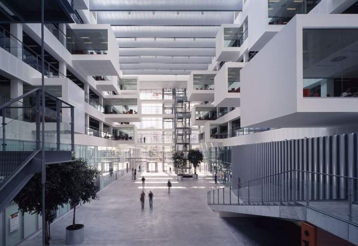 open the full-size image in a new window: Architecture Form, Architecture Schools, Full Siz Image, Atrium Design, Copenhagen Denmark, Atrium Spaces, Hens Larsen, Larsen Architects, Central Atrium