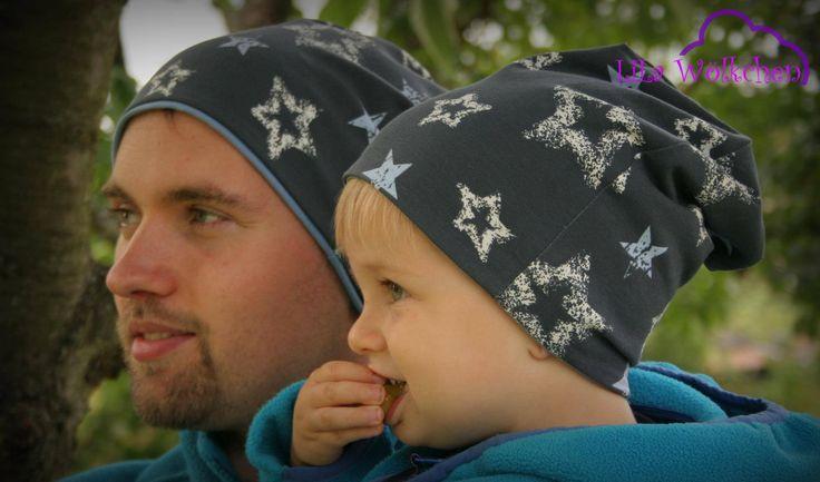 Winterliche Wendebeanie Beanie / Mütze zum Wenden, kann beidseitig getragen werden. Optimale Passform am Kopf!