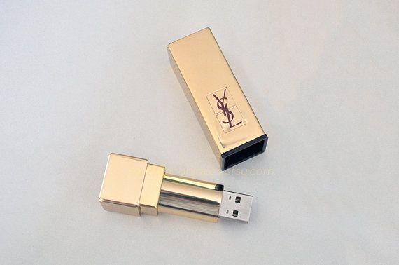 YSL Lipstick Flash Drive / 32 GB USB Memory by PointsAndPlaces, $128.40