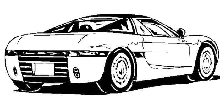 sport car bugatti coloring page