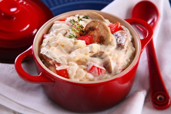 Arroz cremoso com cogumelo e queijo brie (Foto: Hellmann's)