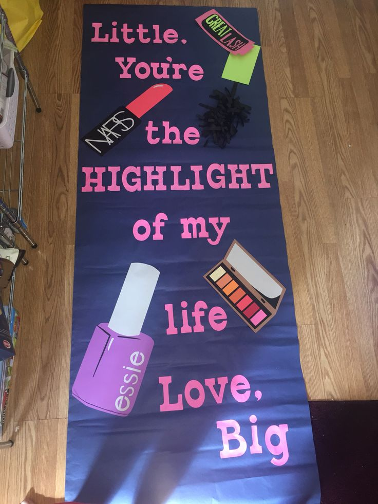 Sorority door dec decoration makeup big little
