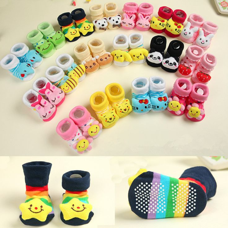 $0.91// Baby Socks with grip// Sizes: 0-12 months// Delivery: 2-4 weeks