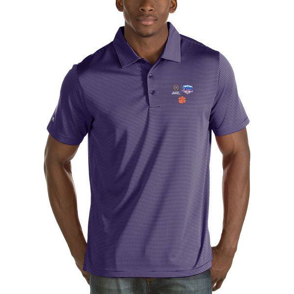 Clemson Tigers Antigua College Football Playoff 2016 Fiesta Bowl Bound Quest Polo - Purple - $64.99