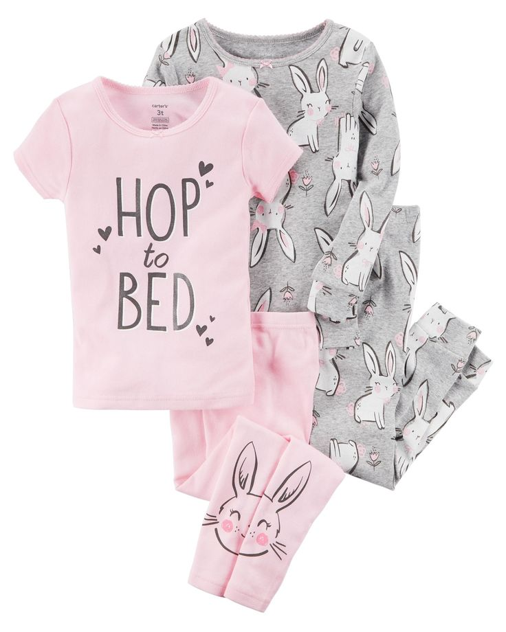 Mix and match with this 4-piece PJ set, making bedtime oh-so easy!
