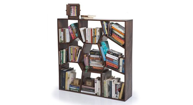 Store and display your prized book collection with the Honeycomb bookshelf