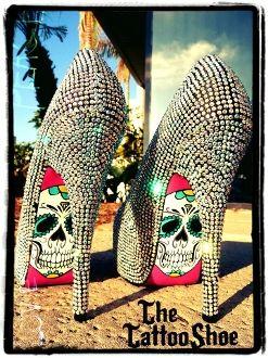 Silver Studed Skull Heels!