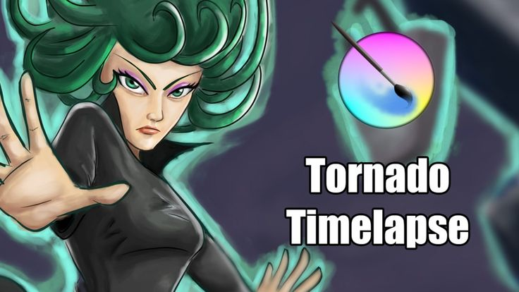 Tornado One Punch Man Fan Art Digital Painting Timelapse