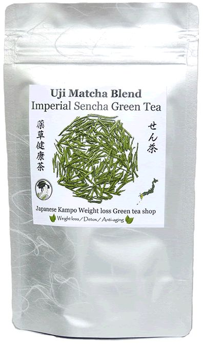 Uji Matcha Blend Imperial Sencha Japanese green tea - Weight loss Diet ----- From Kyushu Island, Japan  We have more Uji Matcha in our blend tea than any other brands. Matcha makes your green tea more Mild with Rich flavor!