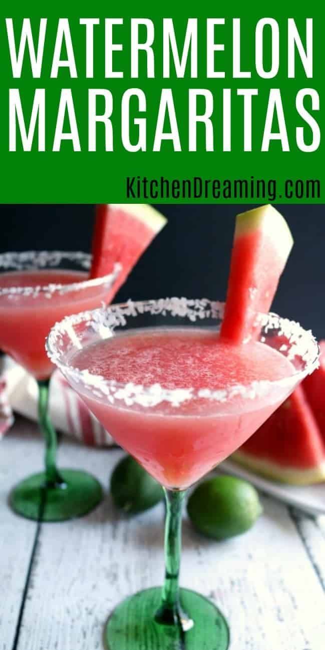 Watermelon Margaritas Kitchen Dreaming Recipe Watermelon Margarita Watermelon Chilis Watermelon Margarita Recipe