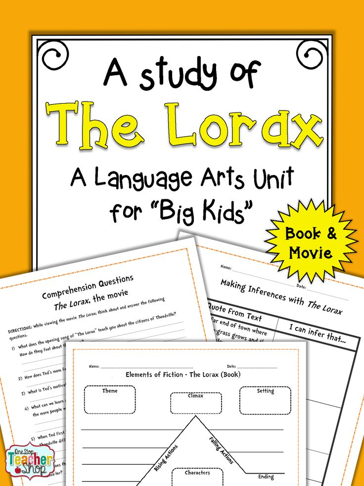 Worksheet Student Worksheet To Accompany The Lorax 1000 ideas about the lorax book on pinterest doctor use and movie to teach your students language
