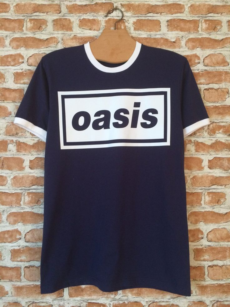 Oasis ringer t-shirt by BADYOUTHTEES on Etsy