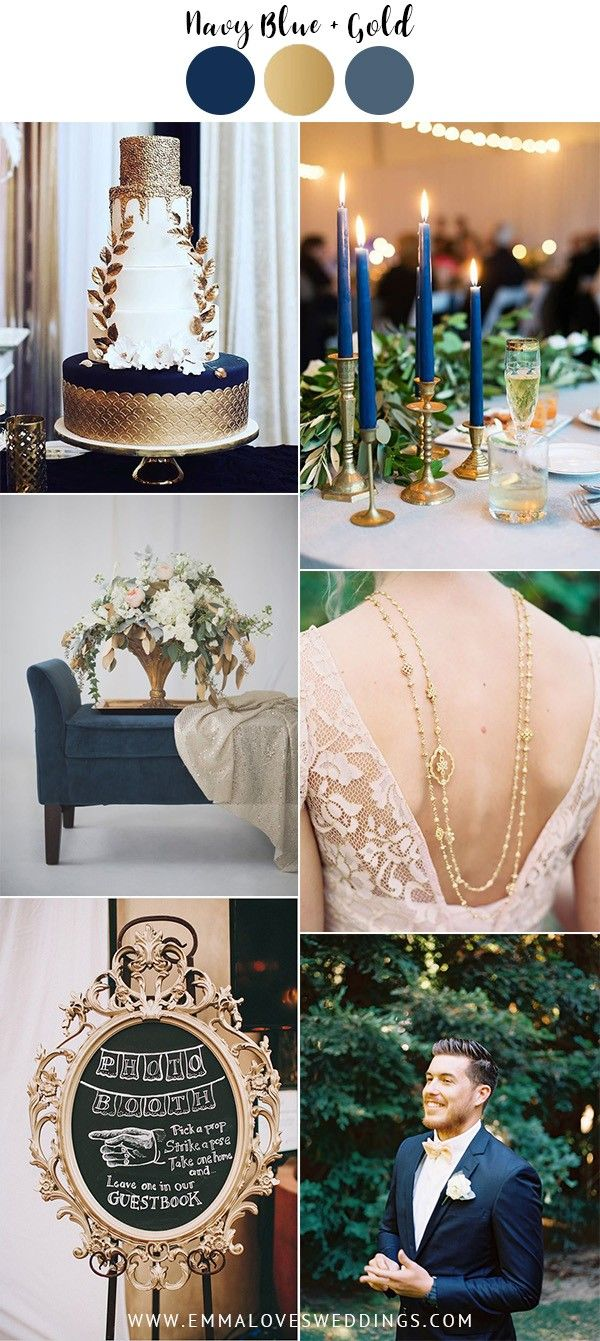 Vintage Navy Blue And Gold Wedding Color Ideas Vintage Wedding Colors Navy Blue And Gold Wedding Blue Gold Wedding